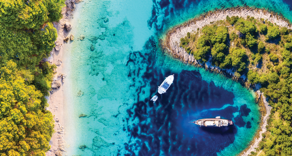 Eilanden langs de Kroatische kust