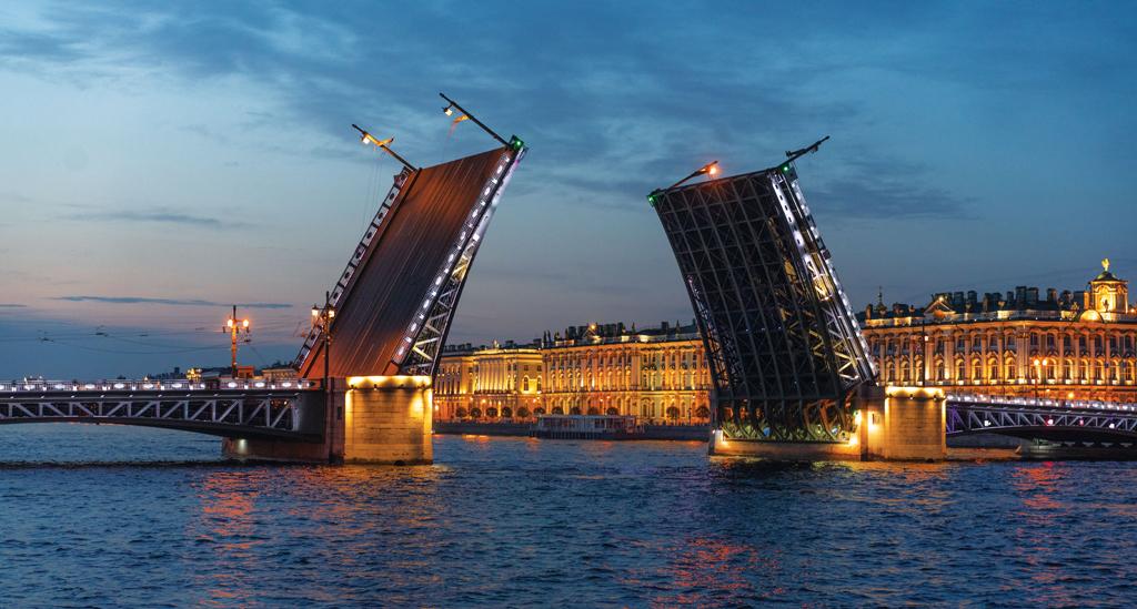 Alexander-Mazurov brug Sint Petersburg