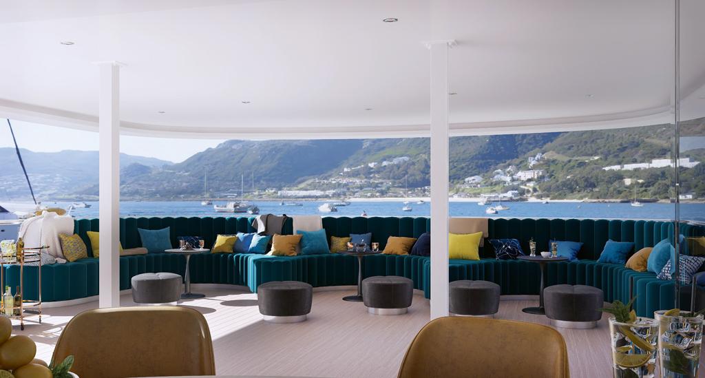 Prachtig uitzicht vanaf het jacht MY Adriatic Blue