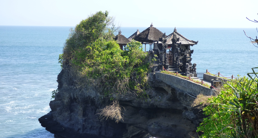 Tanah Lot, één van de bekendste en meest gefotografeerde tempels van Bali