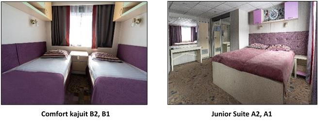 De cabines aan boord van MS Kandinsky Prestige