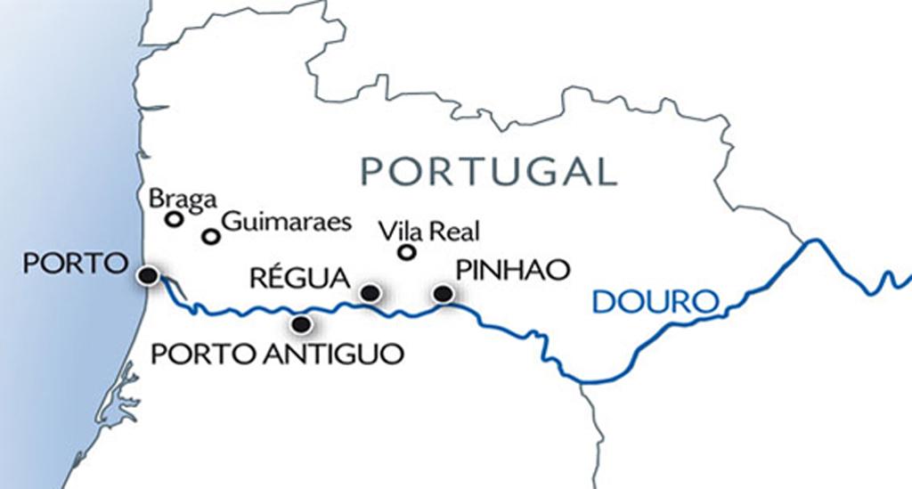Uw vaarroute cruise Douro