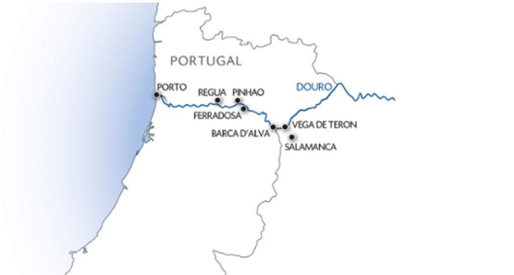 Vaarroute cruise Douro